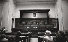 Generic Image - Inside Courtroom (Black & White)