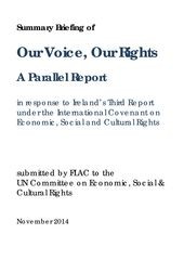 Our Voice Our Rights Summary Briefing